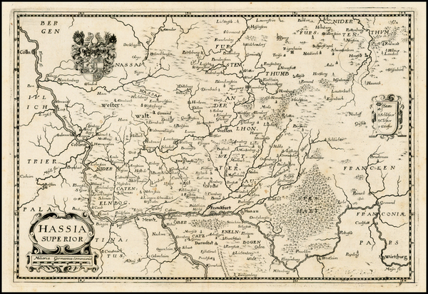 52-Europe and Germany Map By Matthaus Merian