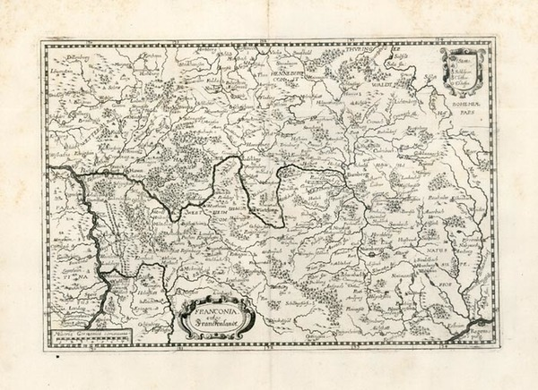 61-Europe and Germany Map By Matthaus Merian