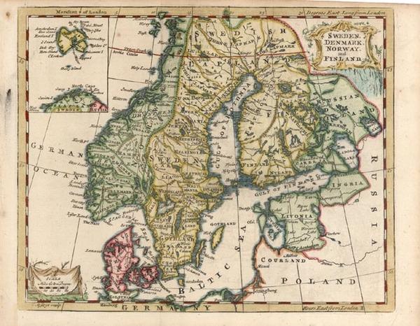 86-Europe and Scandinavia Map By Thomas Jefferys