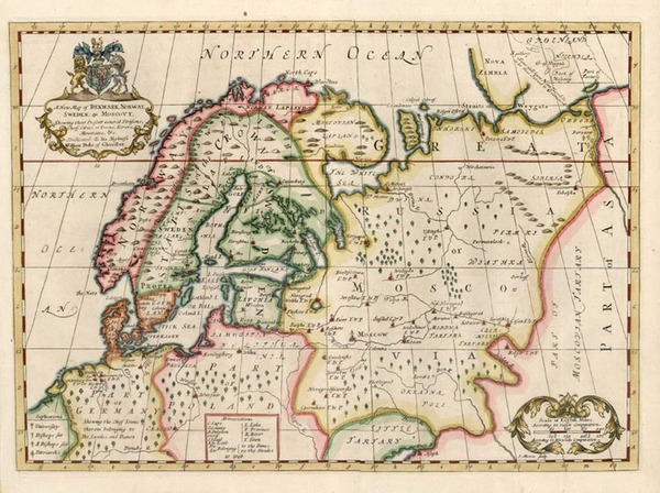 9-Europe, Russia and Scandinavia Map By Edward Wells