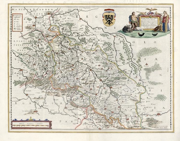 47-Europe, Germany, Poland and Czech Republic & Slovakia Map By Henricus Hondius