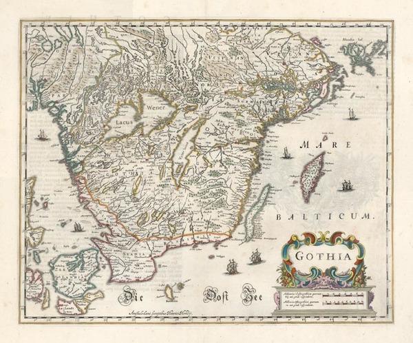 61-Europe and Scandinavia Map By Henricus Hondius