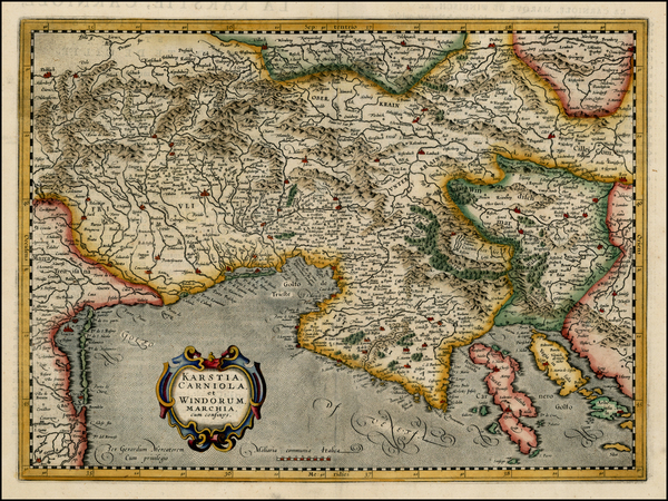 27-Balkans and Italy Map By Henricus Hondius - Gerard Mercator