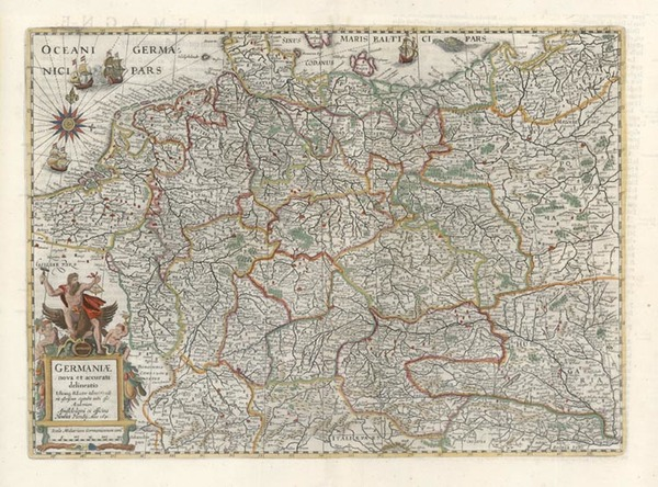 78-Europe, Netherlands, Germany and Poland Map By Henricus Hondius