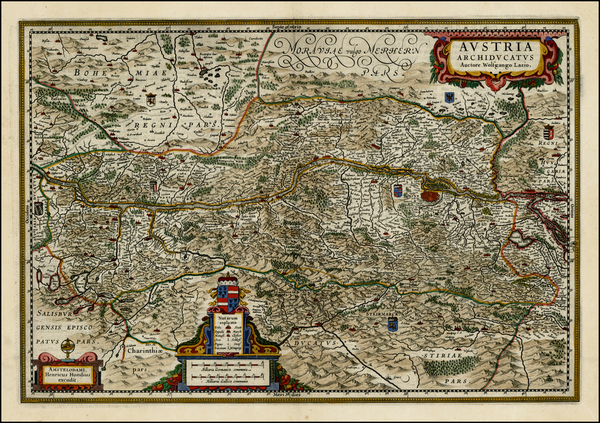 49-Austria and Czech Republic & Slovakia Map By Henricus Hondius