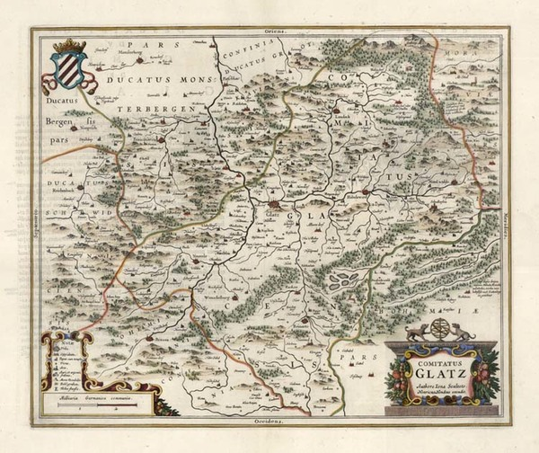 23-Europe, Germany and Poland Map By Henricus Hondius