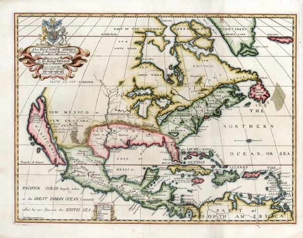 90-North America and California Map By Edward Wells