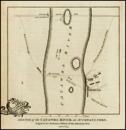 73-Southeast and North Carolina Map By Charles Stedman