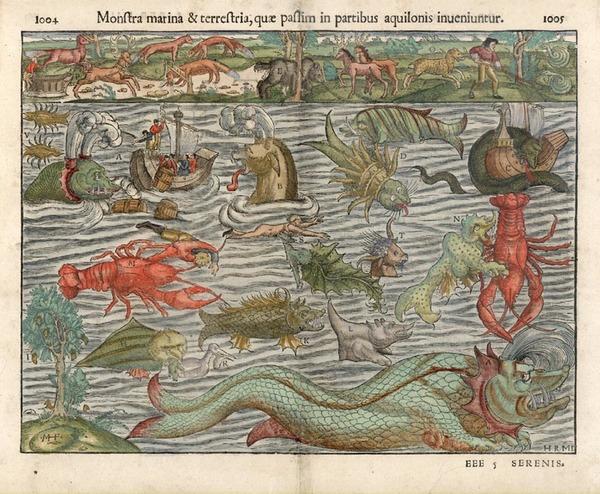 28-Curiosities Map By Sebastian Munster
