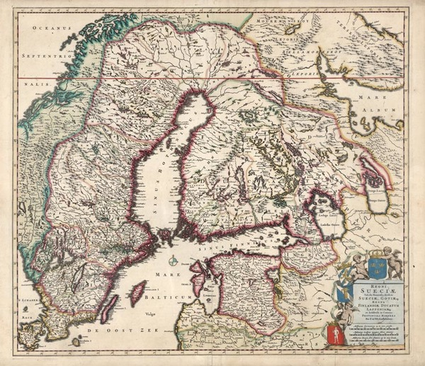 73-Baltic Countries and Scandinavia Map By Frederick De Wit