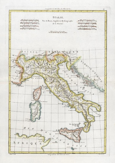 17-Europe and Italy Map By Rigobert Bonne