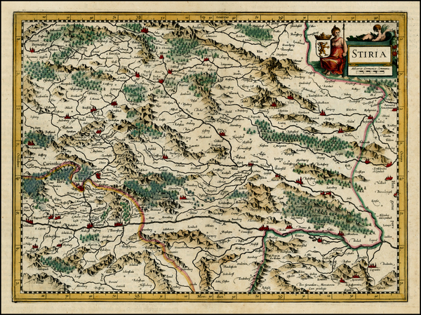 97-Austria and Balkans Map By  Gerard Mercator
