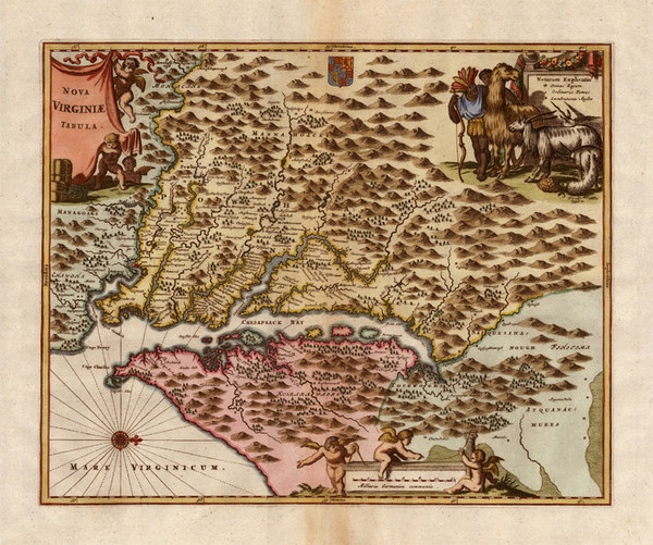 8-Mid-Atlantic and Southeast Map By John Ogilby