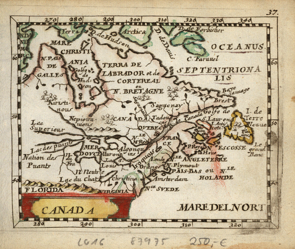 15-New England, Midwest and Canada Map By Johann Christoph Beer