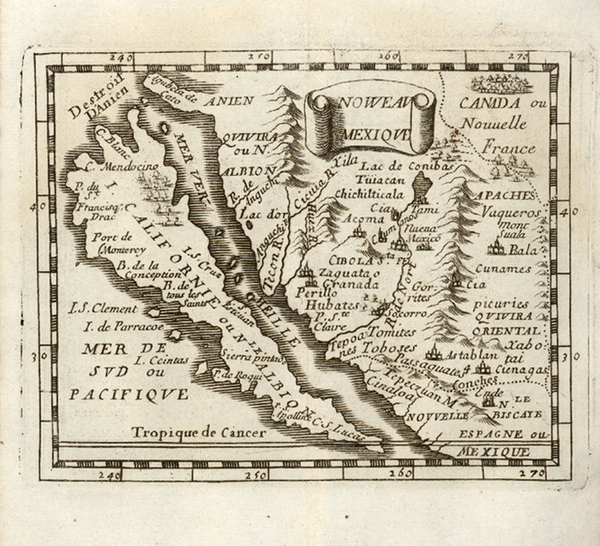 49-Southwest, Mexico, Baja California and California Map By Pierre Du Val