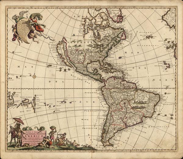 0-North America, South America, Australia & Oceania, Australia, Oceania and America Map By Fr
