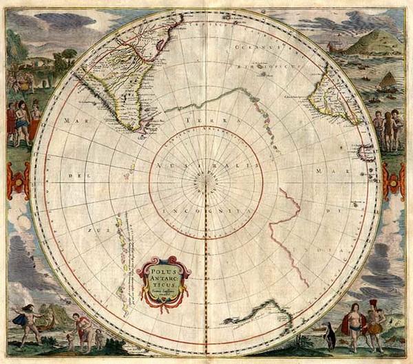 46-World, Polar Maps, Australia & Oceania, Pacific, Australia and New Zealand Map By Jan Janss