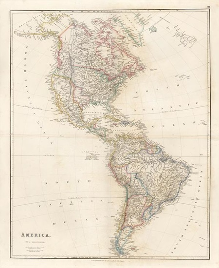 97-Texas, South America and America Map By John Arrowsmith