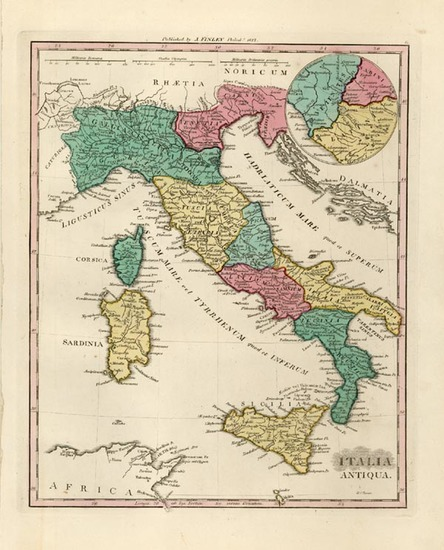 5-Europe, Italy, Mediterranean and Balearic Islands Map By Anthony Finley