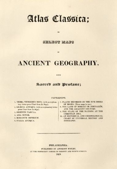 66-Title Pages and Curiosities Map By Anthony Finley