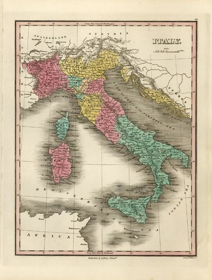 65-Europe, Italy and Balearic Islands Map By Anthony Finley