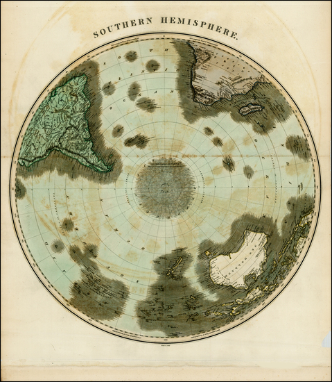 52-World, Southern Hemisphere, Polar Maps, Australia & Oceania, Australia and Oceania Map By J