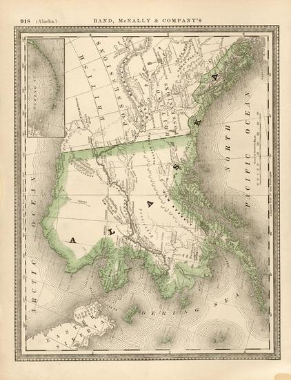 72-Alaska Map By Rand McNally & Company