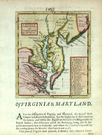 41-Mid-Atlantic and Southeast Map By Robert Morden