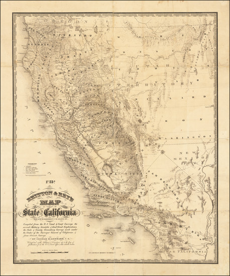 62-California Map By Charles Goddard