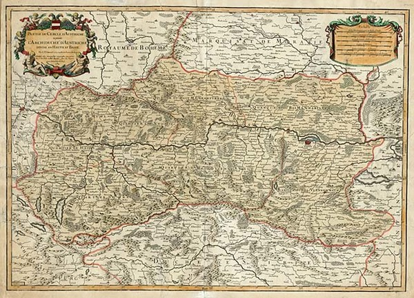 37-Europe, Germany and Austria Map By Alexis-Hubert Jaillot  &  Jean-Claude Dezauche