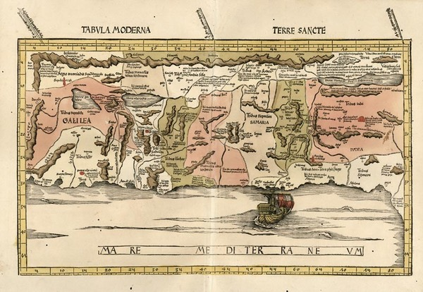 92-Asia and Holy Land Map By Martin Waldseemüller