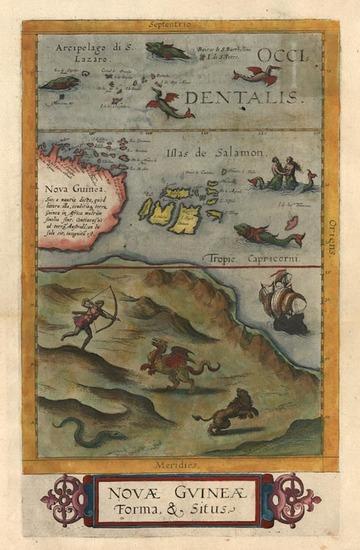 67-Asia, Southeast Asia, Australia & Oceania, Australia and Oceania Map By Cornelis de Jode