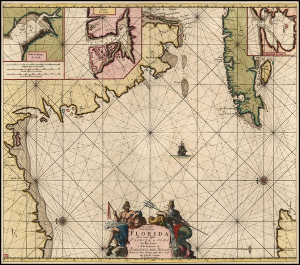 23-South, Southeast and Caribbean Map By Johannes Van Keulen