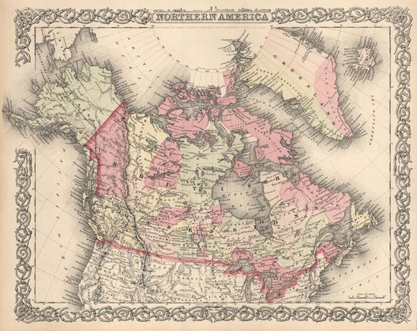80-Alaska and Canada Map By G.W.  & C.B. Colton