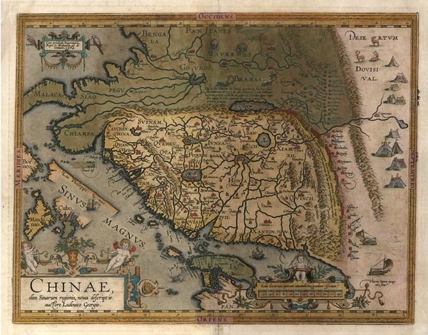 97-Asia, China, Japan, Southeast Asia and Philippines Map By Abraham Ortelius