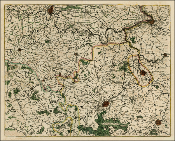 22-Belgium Map By Willem Janszoon Blaeu