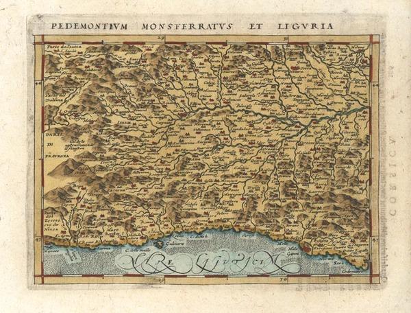 12-Italy Map By Giovanni Antonio Magini