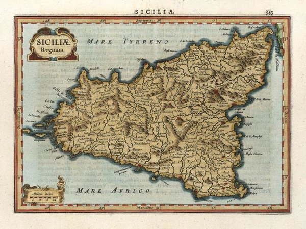 63-Europe, Italy and Balearic Islands Map By Henricus Hondius - Gerhard Mercator