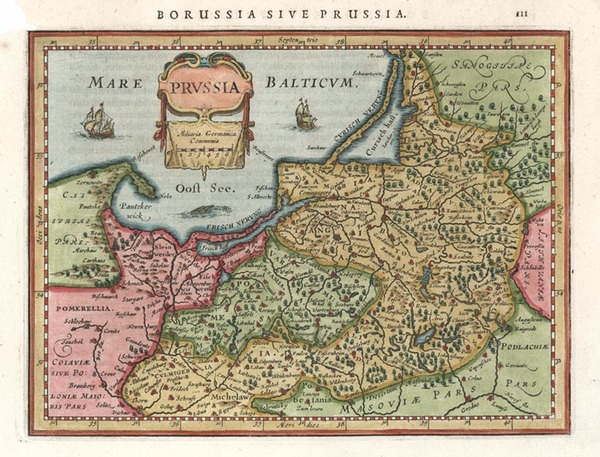 89-Europe, Germany, Poland and Baltic Countries Map By Henricus Hondius - Gerhard Mercator