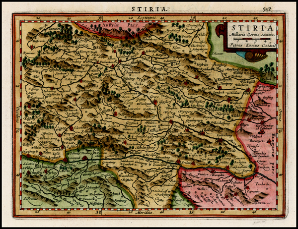 73-Austria and Balkans Map By Gerhard Mercator