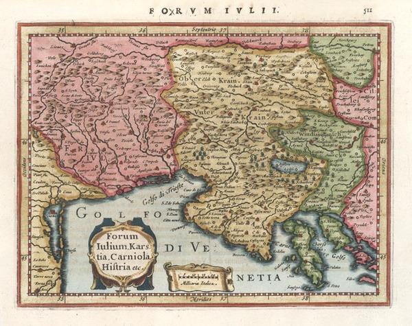 53-Europe, Balkans and Italy Map By Gerhard Mercator