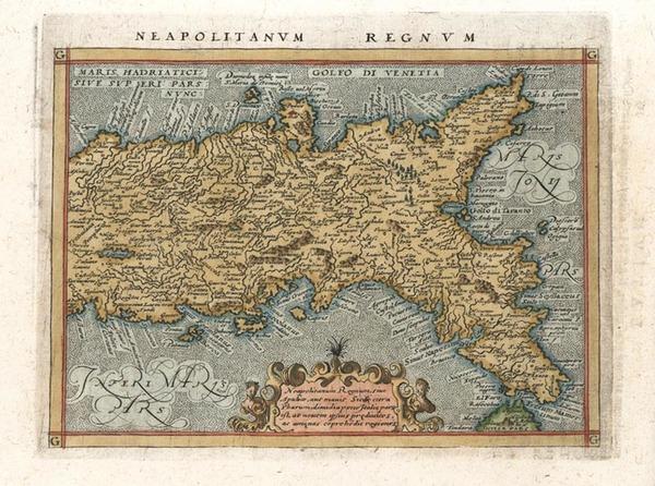 76-Italy Map By Giovanni Antonio Magini