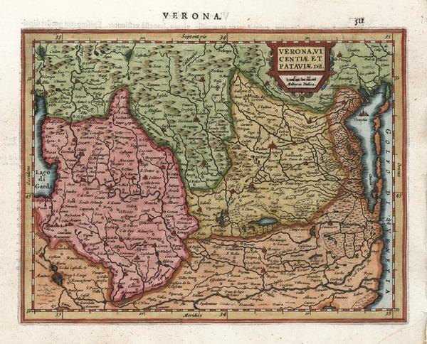 15-Europe and Italy Map By Henricus Hondius - Gerhard Mercator