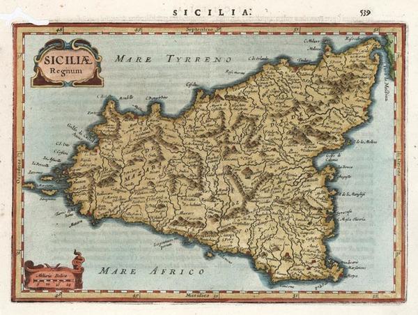 79-Europe, Italy and Balearic Islands Map By Henricus Hondius - Gerhard Mercator