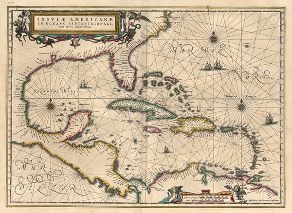 95-South, Southeast, Caribbean and Central America Map By Jan Jansson
