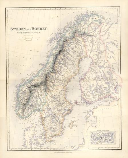 60-Europe, Russia and Scandinavia Map By Archibald Fullarton & Co.