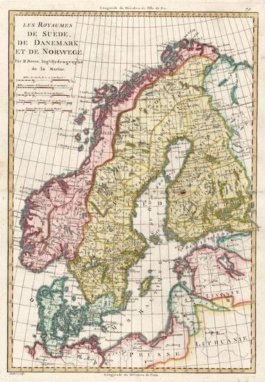 58-Europe, Baltic Countries and Scandinavia Map By Rigobert Bonne