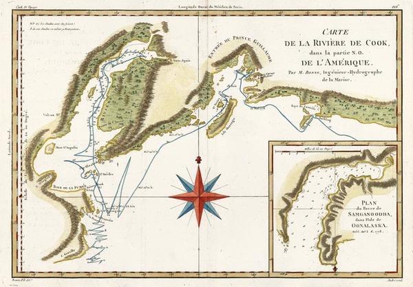 14-Alaska Map By Rigobert Bonne