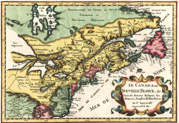 3-New England, Midwest and Canada Map By Nicolas Sanson