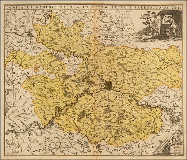 45-Belgium Map By Frederick De Wit